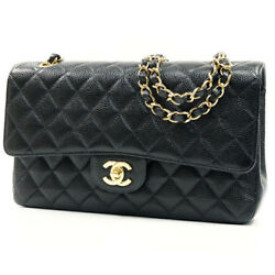 A CHANEL Matorasse 25W flap chain shoulder bag A01112 G bracket caviar skin