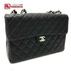 CHANEL A11869 W chain bag CC Matorasse 30 shoulder caviar skin