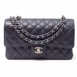 CHANEL Matorasse chain shoulder bag caviar skin quilting bracket t73528 (N494