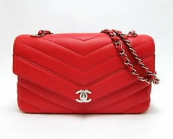 CHANEL bag chain shoulder V stitch bracket soft caviar skin box (N384