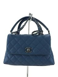 CHANEL shoulder bag handbag mini Matorasse Kuya via skin 2wayBLUA92990 (N1435
