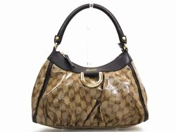 GUCCI handbag GG Crystal Beige Brown U2298 (N111
