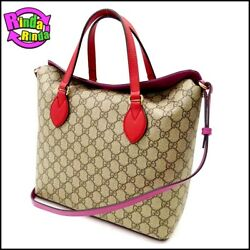 Gucci GG Supreme 2way tote bag 429147 beige 111088 (N836