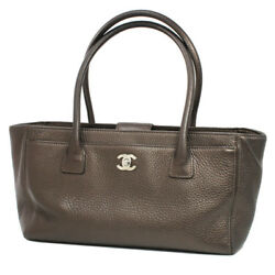 A CHANEL executive tote bag A67282 bronze leather 20180911MK (N957