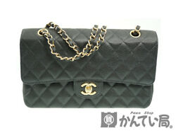 CHANEL A01112 chain shoulder bag caviar skin (N389