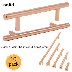 10pack Brushed Satin Copper Cabinet Pulls Stainless Steel Drawer Solid Handles