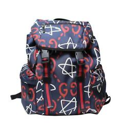 GUCCI ghost backpack 429037 Navy (N2290