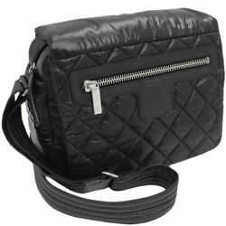 CHANEL Coco Cocoon Small messenger bag nylon leather A48616  (N1590