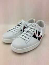 GUCCI Ace sneakers Tiger low-cut WHT shoes (K18580