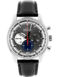 ZENITH El Primero 36000VpH 42 mm  anthracite dial SS  see-through back 03.2 (K32