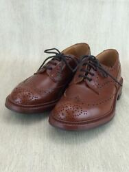 Tricker'sMarron Antique Wing chip dress shoes UK7BRW  box storage bags Yes (K204