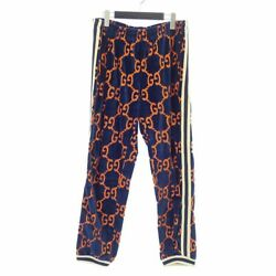 Gucci 522960X9T39 18AW GG total handle chenille velor pants size L multi 10 (K87