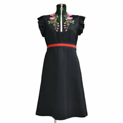 GUCCI Embroidery Ruffle Jersey Dress R2239548 (K16074