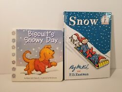 SNOW DAY Book Set - 'SNOW' by PD Eastman and 'Biscuit's Snowy Day'