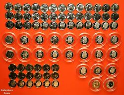 2000 - 2020 Pdss +s Roosevelt Dime 86 Coin Bu Set Wall Clad And Silver Proof + Enh