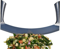 Mezzaluna Knife (Pizza Cutter) Vegetable Chopper for Chopped Salad Industrial