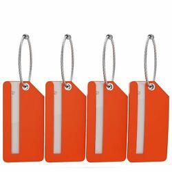 Small Luggage Tags - Fully Bendable Rubber Tags - Privacy Cover