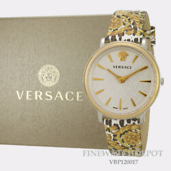 Authentic Womenand039s Versace V-circle The Manifesto Edition Watch Vbp120017