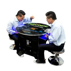 Round Top Pub Table Retro Short Arcade 60 Games Free Stools And Freight