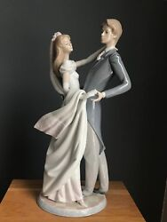 """I Love You Truly Wedding Figurine Bride And Groom By Lladro 1528 14"""" Tall"""