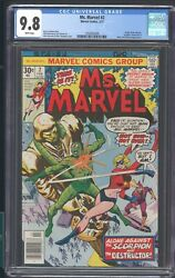 MS. MARVEL 2 CGC 9.8 2/77 MARVEL W.P APP OF SCORPION DESTRUCTOR MARY JANE WATSON