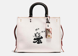 BNWT! Coach x Felix The Cat Felix Laughing Rogue in Glovetanned Pebble Leather