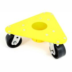 New Extreme Weight Steel Triangular Cup Dolly Phenolic Wheels 2000 Lb Cap