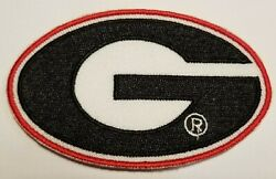 Georgia Bulldogs 3.5quot; G Iron On Embroidered Patch FREE Ship