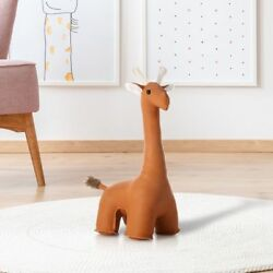 Leather Giraffe Bookend Animal Gift Home Decoration Cute Animal Toy Door Stopper