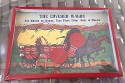 Vintage The Covered Wagon Old West Dexterity Game Vg