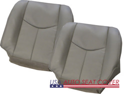 03-07 Chevy 1500-2500-3500-6.6l Diesel D.p. Bottom Leather Seat Cover Gray 922