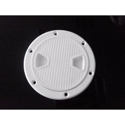 Marine 4 Inch White Round Access Hatch Cover Lid Screw Out Deck Boat Plastic
