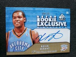 2009-10 Kevin Durant Sp Game Used Auto Retro Rookie Exclusive Insert 5/25 Ud
