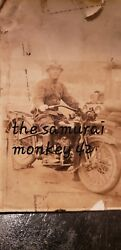 Ww2 Japanese Original Photo Motorcycle Officer Collectible Antique Picture