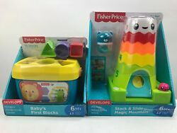 Fisher-Price Baby's First Blocks Learning-Stack & Slide Magic Mountain  lot of 2