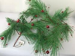 Raz Imports 6 Foot Green Sparkly With Berries Garland Christmas