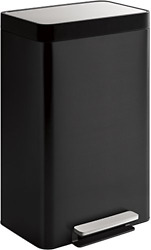 Kohler 20940-BST 13-Gallon Step Trash Can Black Stainless