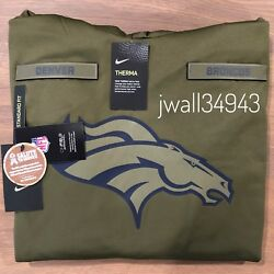 Authentic Nike Denver Broncos Men's 2018 Nfl Salute To Service Hoodie Olive