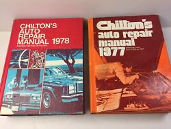 Chiltons Auto Repair Manuals 1978 1971-1978 Cars And 1977 1970-1977 Cars