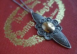 Antique Jewellery Gold Sterling Silver Pendant Chain Necklace Vintage Jewelry
