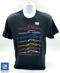 Chevrolet Corvette T-Shirt - Black w 1953-2019 Models Evolution (Licensed)