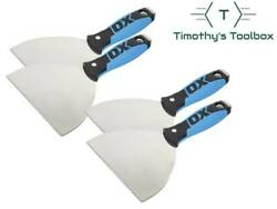 """Ox Pro 5"""" Flexible Stainless Steel Drywall Putty Joint Knife Pack Of 4"""