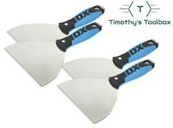 """Ox Pro 6"""" Flexible Stainless Steel Drywall Putty Joint Knife Pack Of 4"""