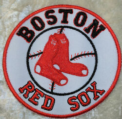 Boston Red Sox Circle 2.5quot; Iron On Embroidered Patch FREE SHIP