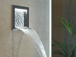 Gessi Spout Private Wellness Cascata Wall Waterfall Spout With White Led Light 3
