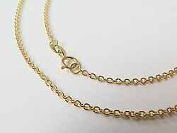 J.lee Au750 18k Yellow Gold Necklace - 1.1mm O Rolo Link Chain 17.7inch