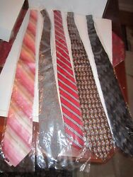 Lot Of 27 Men's Neck Ties - All In Sleeves - Unsearched Designer Brands