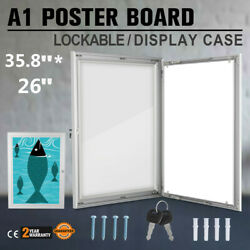 A1 Lockable Poster Frame Menu Outdoor Display Case Signs Retail Durable NEWEST