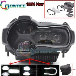 BLK LED Headlight Complete Replacement for 2013-2017 BMW Motorcycle R1200GS ADV