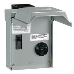 Ge Temporary Rv Power Outlet With Breaker 30 Amp Lockable Electrical Panel Box
